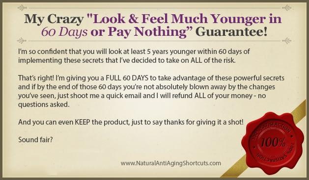 Anti aging guarantee
